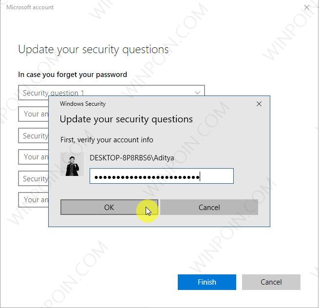Cara Menambahkan Pertanyaan Keamanan pada Local Akun di Windows 10 (2)