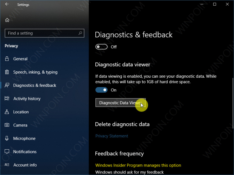 Cara Mengaktifkan Diagnostic Data Viewer di Windows 10 (2)