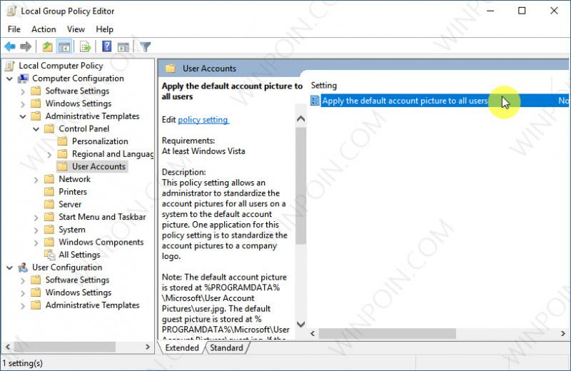Cara Mengatur Default User Picture untuk Semua User di Windows 10 (5)