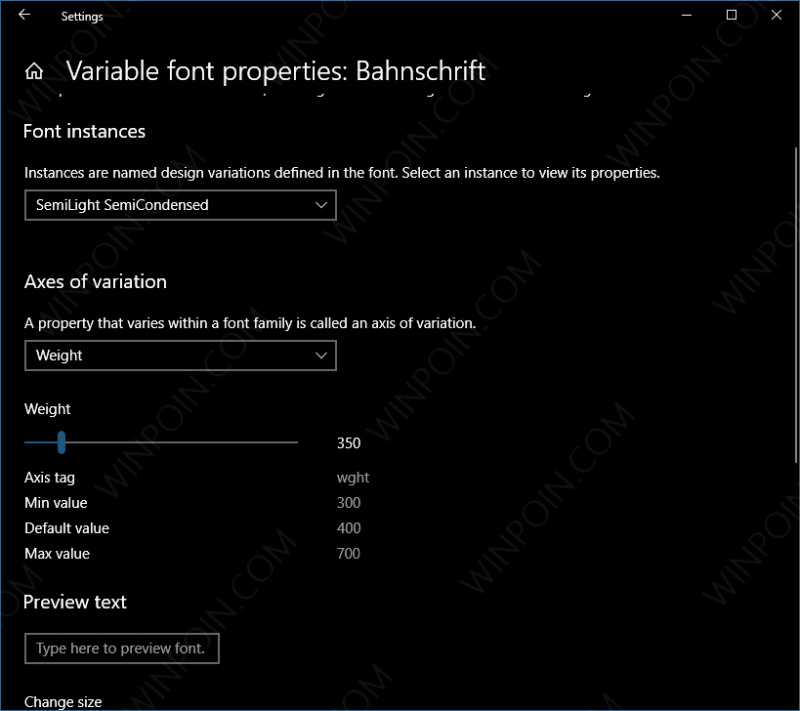 Windows 10 Build 17083 Konfigurasi Font Melalui Settings (5)
