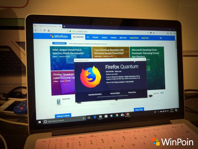 """Cara Download dan Install Firefox """"Quantum"""" 58 Sekarang Juga!"""