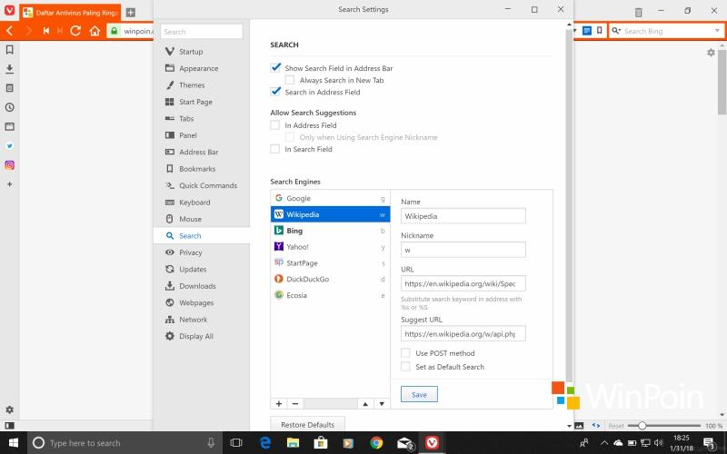 Browser Vivaldi 1.14 Dirilis, Apa yang Baru?