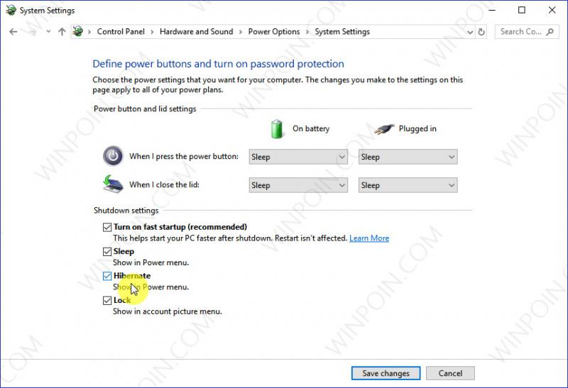 Cara Memunculkan Opsi Hibernate pada Power Menu Windows 10 (5)