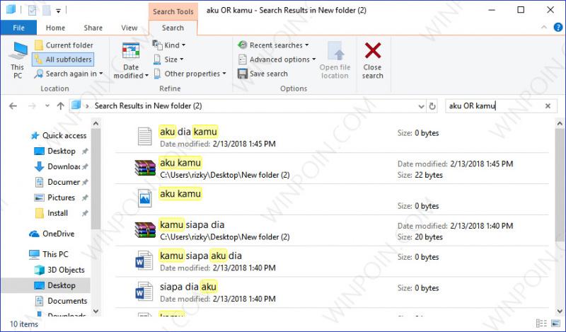 Cara Mencari Beberapa File pada File Explorer (4)