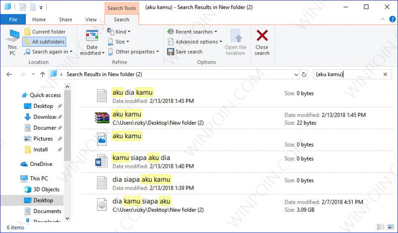 Cara Mencari Beberapa File pada File Explorer (6)