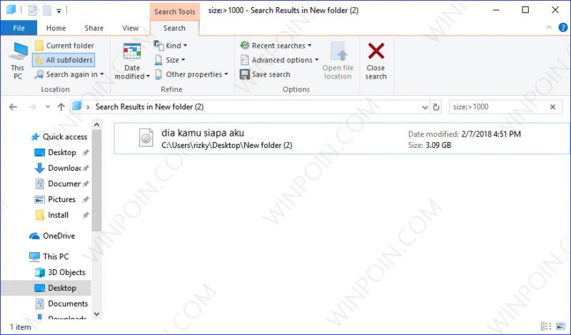 Cara Mencari Beberapa File pada File Explorer (7)