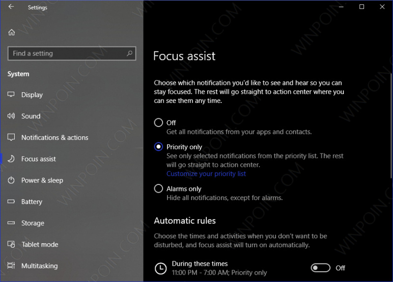 Cara Mengaktifkan Focus Assist di Windows 10 (3)