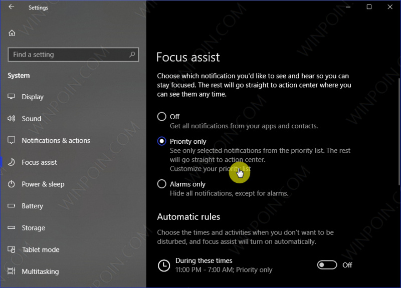 Cara Mengaktifkan Focus Assist di Windows 10 (4)