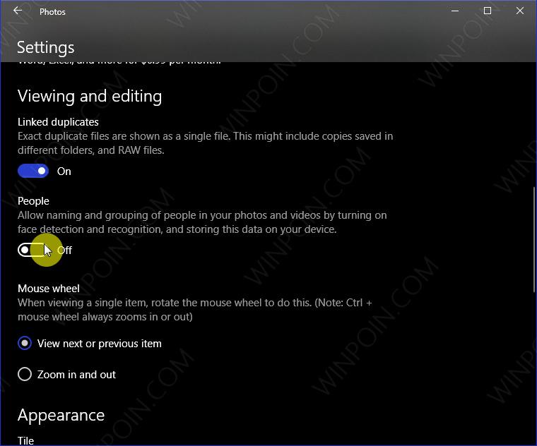 Cara Menonaktifkan Pengenal Wajah pada Photos Windows 10 (3)