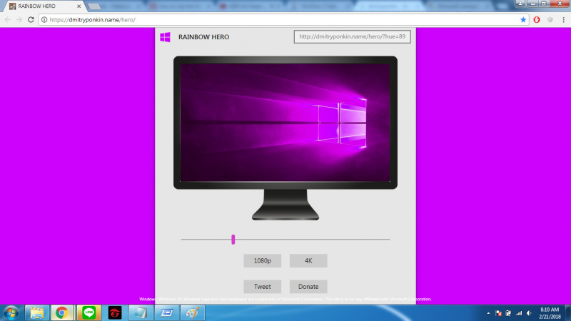 Rainbow Hero Buat Custom Warna Wallpaper Windows Hero