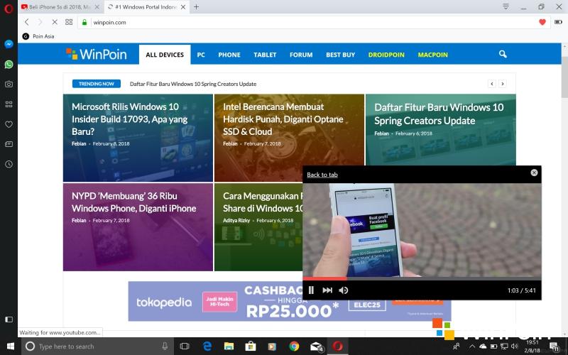 Opera 51 Dirilis: Lebih Kencang dari Firefox Quantum?