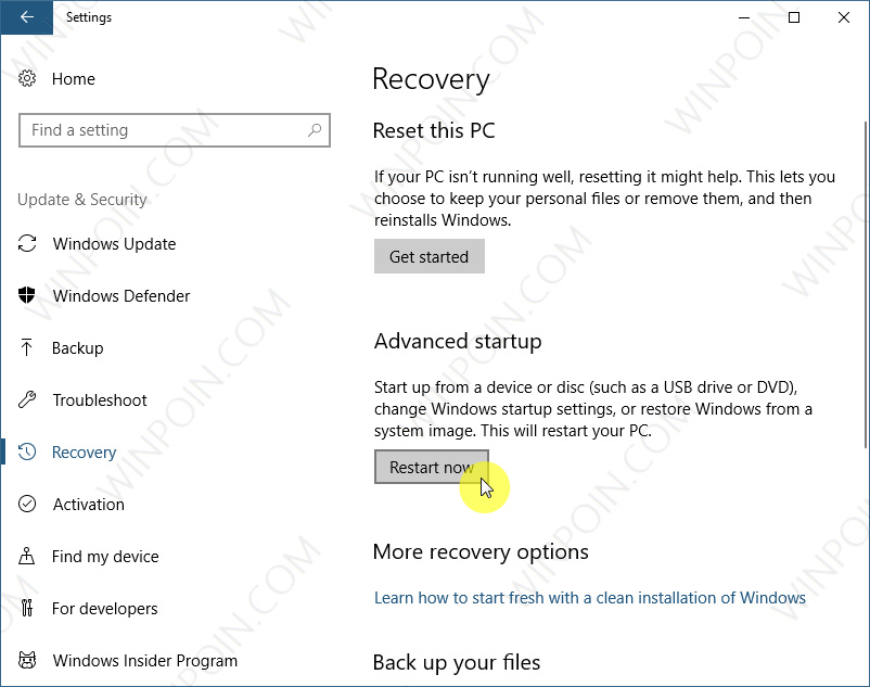 Cara Cepat Boot ke Advanced Startup Options di Windows 10 (2)