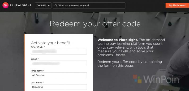 Cara Mendapatkan Akses Pluralsight Gratis dari Microsoft Imagine