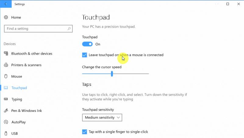 Cara Menonaktifkan Touchpad ketika Mouse Terhubung di Windows 10