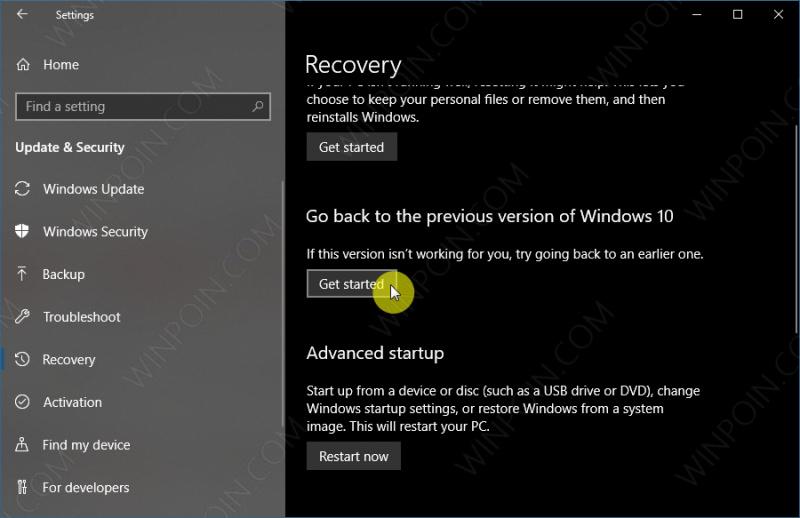 Cara Rollback ke Versi Windows 10 Sebelumnya