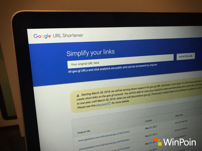 Katakan Selamat Tinggal Pada Google Shortener URL — Goo.gl Dimatikan