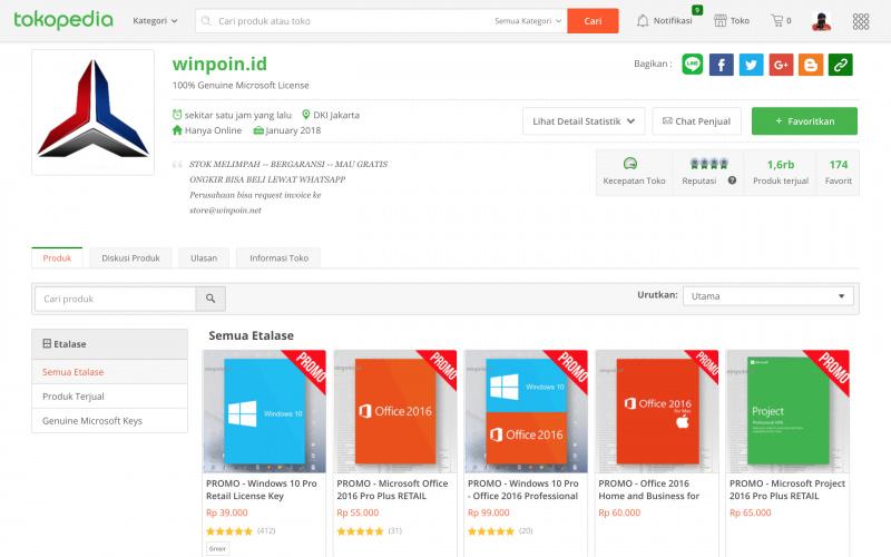 Klarifikasi: WinPoin Tidak Pernah Jualan Lisensi Windows di Tokopedia, dsb