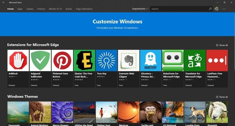 """Microsoft Bakal Menambahkan Menu """"Departemen"""" di Store Windows 10"""