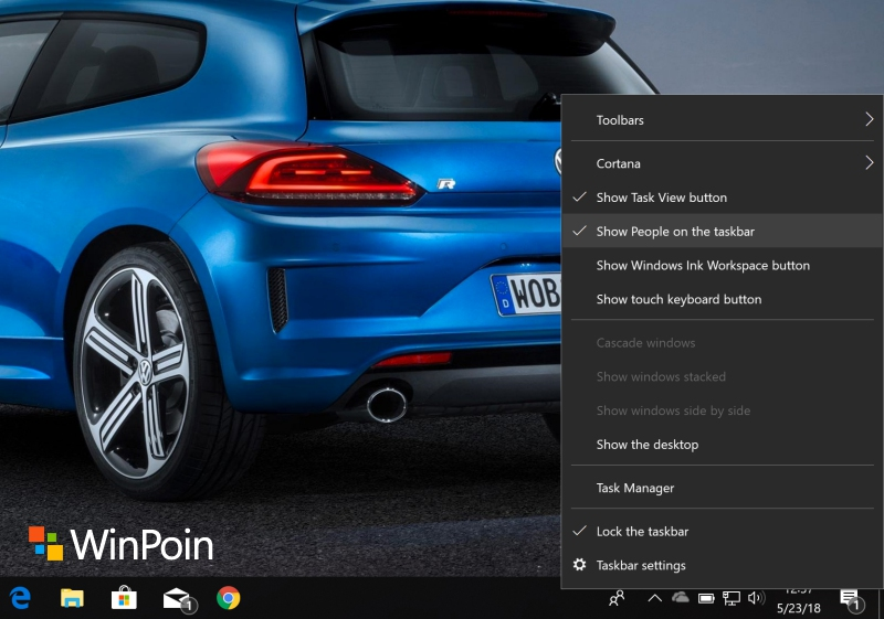 "Cara Menghilangkan Icon People ""Nggak Penting"" di Taskbar Windows 10"