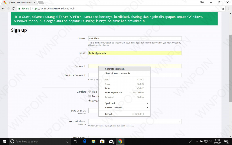 Cara Mengaktifkan Password Generator Tersembunyi di Chrome