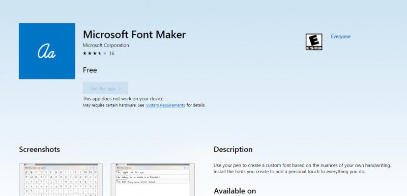 Microsoft Merilis Aplikasi Pembuat Font di Windows 10