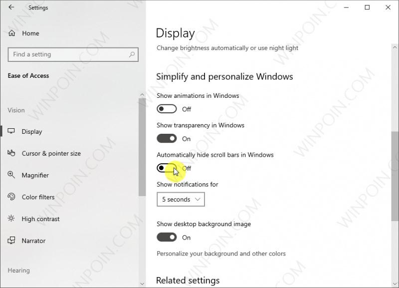 Cara Agar Selalu Memunculkan Scroll Bars di Windows 10 (2)