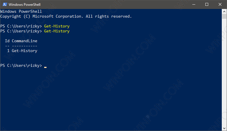 Cara Melihat Riwayat Perintah PowerShell di Windows 10 (3)