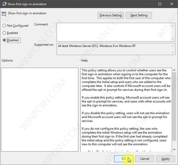 Cara Mematikan Animasi Sign-in di Windows 10 (3)