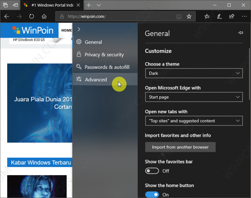 Cara Mematikan Autoplay Video di Microsoft Edge (2)