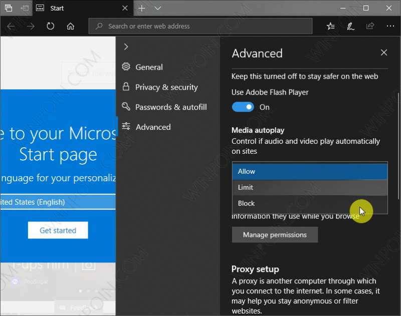 Cara Mematikan Autoplay Video di Microsoft Edge (5)