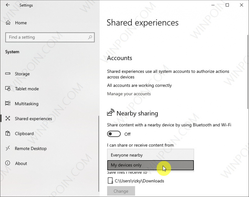 Cara Mematikan Nearby Sharing di Windows 10 (2)
