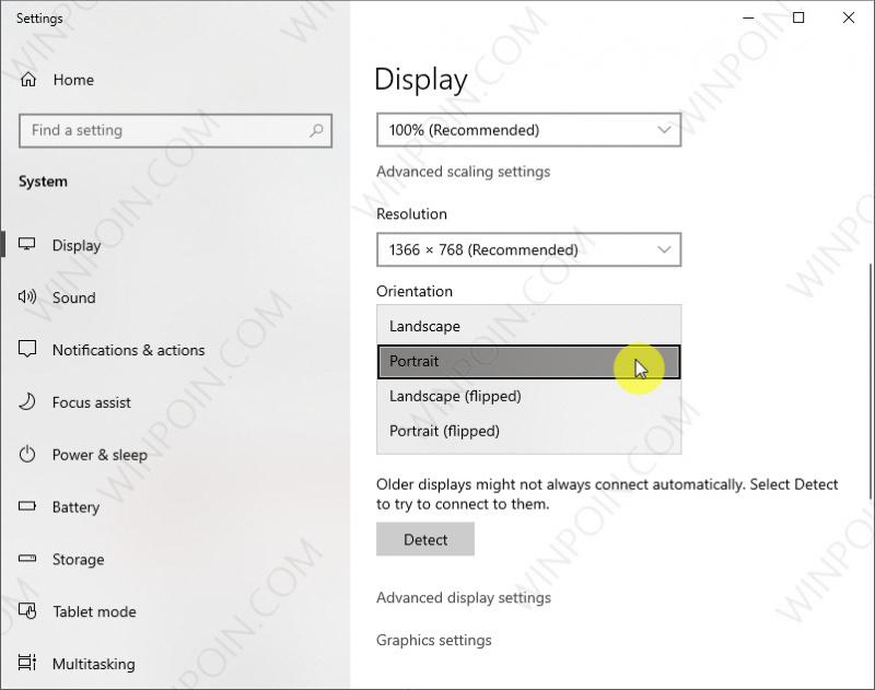 Cara Memutar Tampilan Layar pada Windows (2)