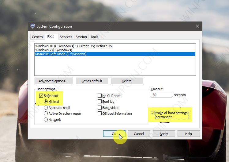Cara Menambahkan Safe Mode pada Boot Options di Windows 10 (3)