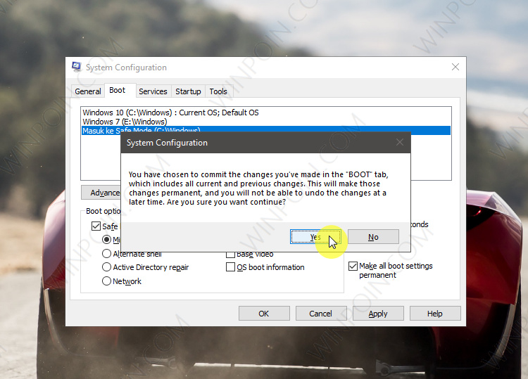 Cara Menambahkan Safe Mode pada Boot Options di Windows 10 (4)