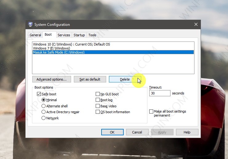 Cara Menambahkan Safe Mode pada Boot Options di Windows 10 (6)