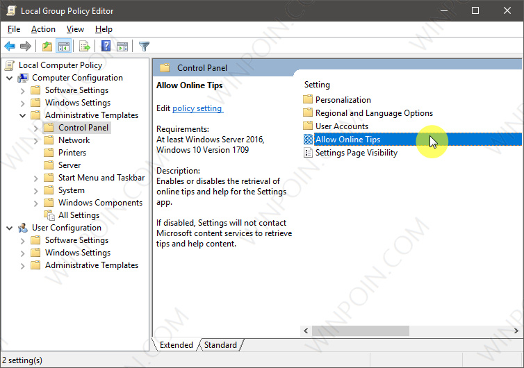 Cara Menghilangkan Tips dari Settings di Windows 10 (3)