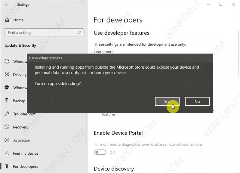 Cara Mengizinkan Side Load Aplikasi di Windows 10 (2)