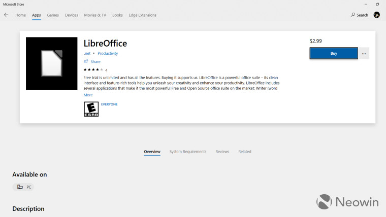 Hati-Hati! Jangan Download LibreOffice dari Microsoft Store