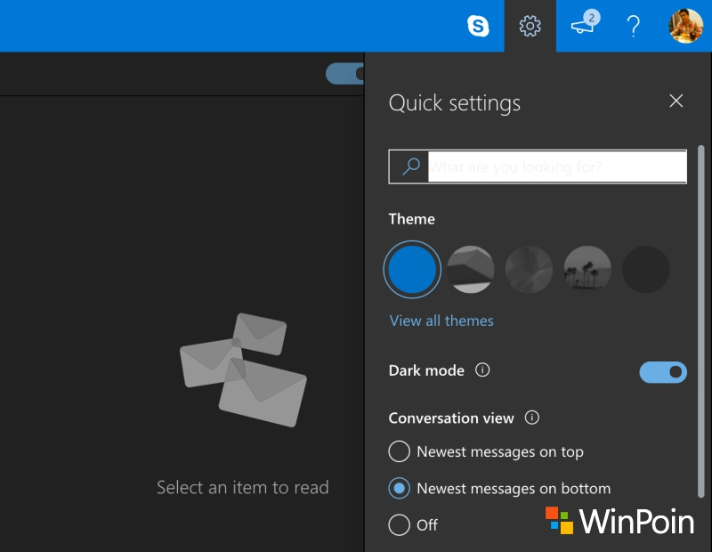 Cara Mengaktifkan Dark Mode di Outlook Mail
