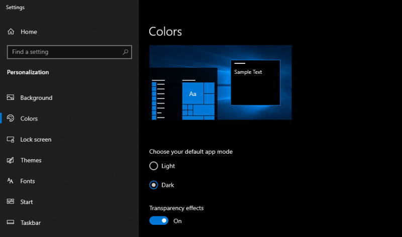 OneDrive di Windows 10 Mendapatkan Update Dark Theme