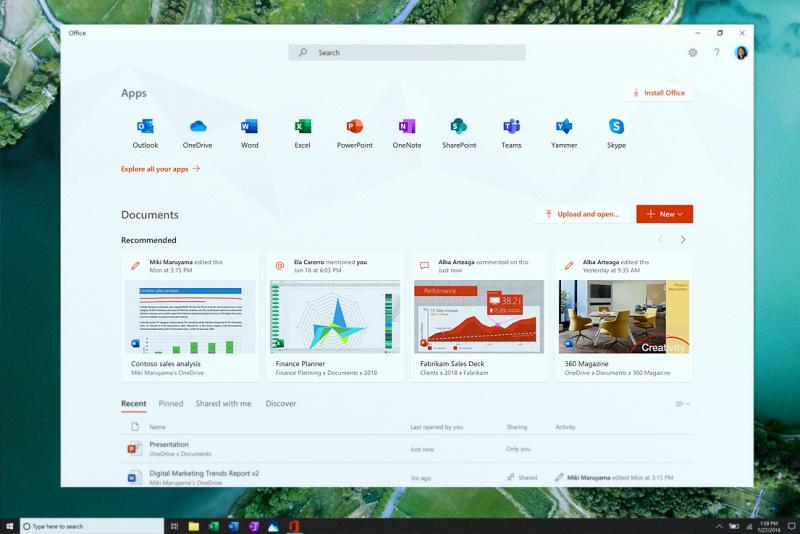 Microsoft Mengumumkan Aplikasi Office Baru Di Windows 10 19H1