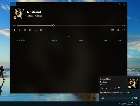 Microsoft sedang memperbarui Flyout Volume Windows 10 dengan Fitur Baru