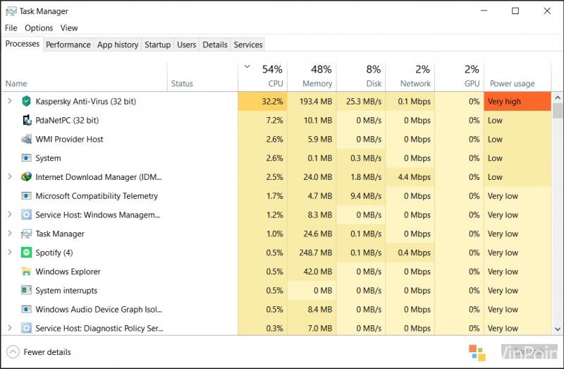 """Task Manager Mendapatkan Fitur Baru di Windows 10 """"19H1"""""""