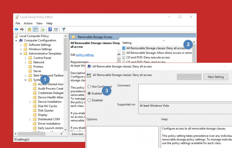 Cara Memblokir Akses Removable Storage di Windows 10