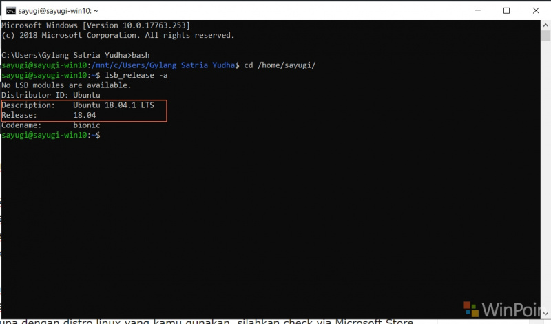 Cara Akses File Windows Subsystem For Linux Dari File Explorer Windows 10