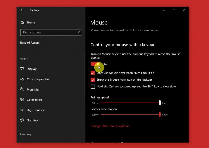 Cara Mengontrol Kursor Mouse dengan Numpad di Windows 10