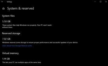 """Windows 10 """"19H1"""" Membutuhkan Setidaknya 7Gb Ruang Penyimpanan Untuk Menginstal Update"""