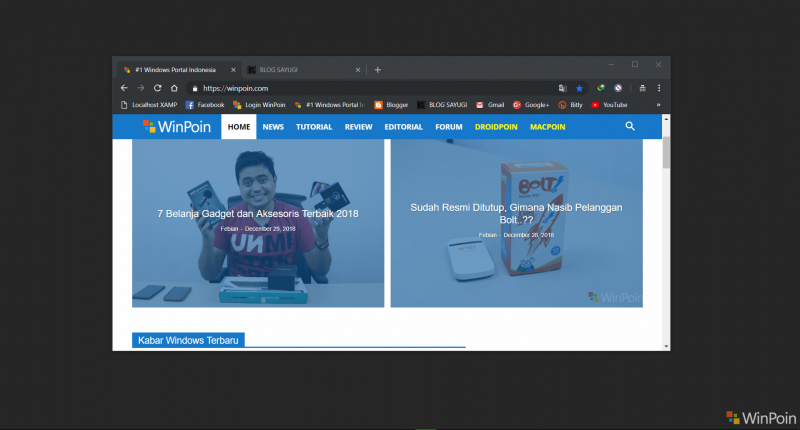 "Google Chrome Akan Segera Mendapatkan Integrasi ""Dark Theme"" di Windows 10"