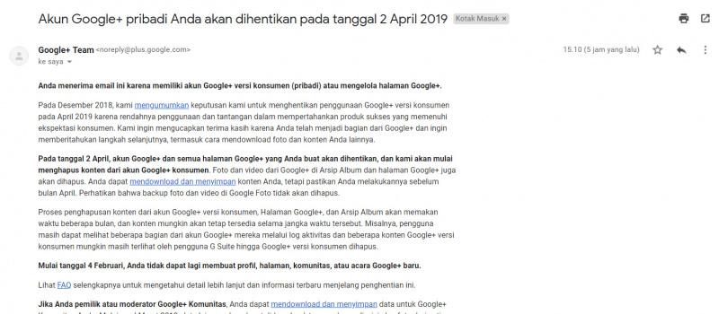 Akhirnya Google Akan Menutup Google Plus Pada 2 April!