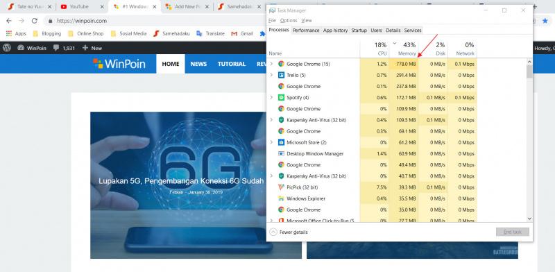 Fitur Baru Untuk Google Chrome Yang Mencegah Memakai Banyak RAM! Apakah itu?